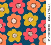 Seamless Flower Pattern. Bold...