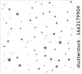 Gray Color Stars On White...