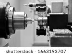 Close Up Of Cnc Milling Machine ...