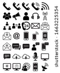 communication icon set.... | Shutterstock .eps vector #1663225354
