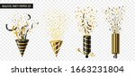 four exploding party poppers in ... | Shutterstock .eps vector #1663231804