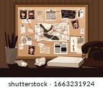 detective board composition... | Shutterstock .eps vector #1663231924