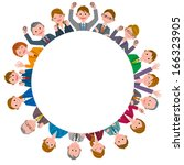 office workers circle | Shutterstock . vector #166323905