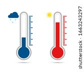temperature icon set in flat... | Shutterstock .eps vector #1663243297