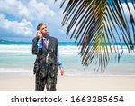 Stranded Castaway Businessman...