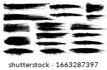 vector set of grunge artistic... | Shutterstock .eps vector #1663287397