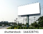 blank billboard for new... | Shutterstock . vector #166328741