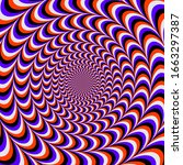 rounded color optical illusion. ...   Shutterstock .eps vector #1663297387