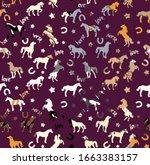 Textured Horse Seamless Pattern ...