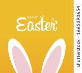happy easter day illustration.... | Shutterstock .eps vector #1663393654