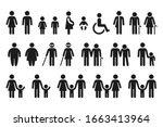 people figures icon set.... | Shutterstock .eps vector #1663413964