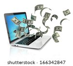 making money online   dollars...   Shutterstock . vector #166342847