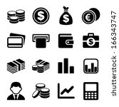 money icon set | Shutterstock . vector #166343747