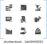 commerce icon set and large...