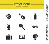 seasonal icons set with candy ...