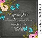 wedding invitation card | Shutterstock .eps vector #166350971