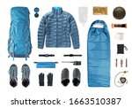 Set Of Camping Equipment And...