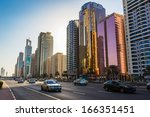 dubai  uae   november 9  modern ... | Shutterstock . vector #166351451
