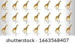 giraffe walk cycle animation...   Shutterstock .eps vector #1663568407