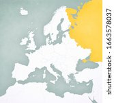 russia on the map of europe... | Shutterstock . vector #1663578037