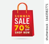vector summer sale bag template ...   Shutterstock .eps vector #1663582771
