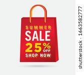 vector summer sale bag template ...   Shutterstock .eps vector #1663582777
