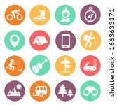 outdoor traveling icons.... | Shutterstock .eps vector #1663633171