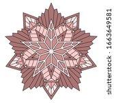 unusual mandala with five... | Shutterstock .eps vector #1663649581