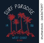 surf illustration   t shirt... | Shutterstock .eps vector #1663674397
