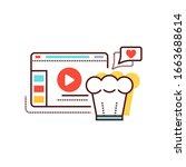 food blog web site color line...
