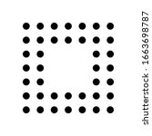 digital dotted stop symbol ...