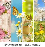 natural spring collage  the... | Shutterstock . vector #166370819