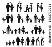 men and women family life black ... | Shutterstock .eps vector #1663710211
