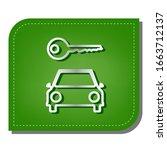 car key simplistic sign. silver ... | Shutterstock .eps vector #1663712137