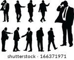 business people   vector | Shutterstock .eps vector #166371971