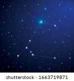 constellation canis major in...   Shutterstock .eps vector #1663719871