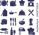 cooking solid icon set. set of... | Shutterstock .eps vector #1663731814