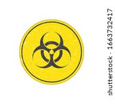biohazard icon. warning sign of ... | Shutterstock .eps vector #1663732417