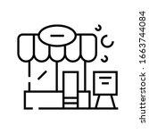 roadside cafe line icon ...   Shutterstock .eps vector #1663744084