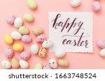 happy easter concept.... | Shutterstock . vector #1663748524