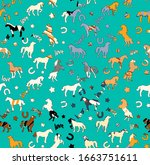 Textured Horse Seamless Patter...