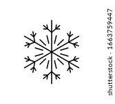 snowflake icon. simple line ...