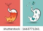 stomach vector illustration.... | Shutterstock .eps vector #1663771261