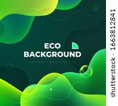 liquid color background design. ... | Shutterstock .eps vector #1663812841