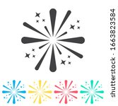 fireworks multi color icon set. ...