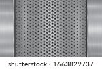 background in silver and gray... | Shutterstock .eps vector #1663829737