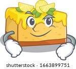 cool lemon cheesecake mascot... | Shutterstock .eps vector #1663899751