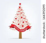 christmas tree. vector... | Shutterstock .eps vector #166392095