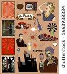 retro nation style poster kit   ... | Shutterstock .eps vector #1663938334