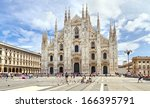 milan   june 24  tourists visit ...   Shutterstock . vector #166395791